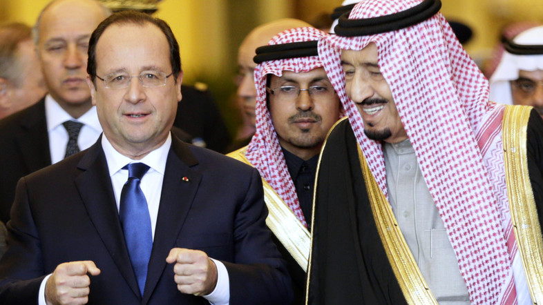 French President meets with Saudi Crown Prince Salman