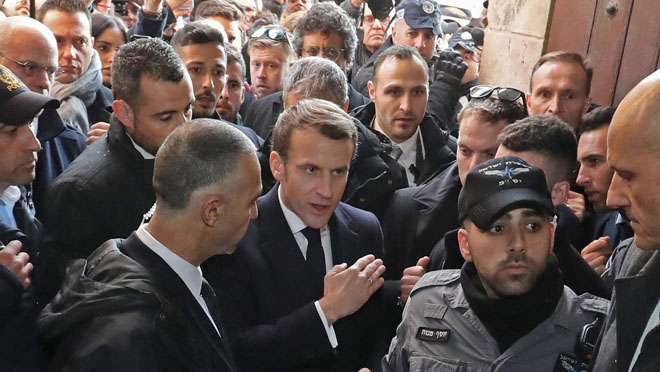 French president expels Israeli security official from church