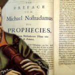 France's world famous expert astrology Nostradamus and his first book, Les Propheties