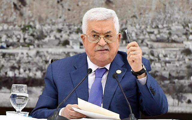 Mahmoud Abbas, head of the Palestinian Authority