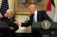 Palestinian President Mahmoud Abbas met with President Donald Trump White House