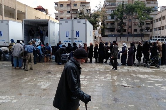Palestinian refugee shelter set up for the welfare of the Relief and Works Agency (UNRWA) camps