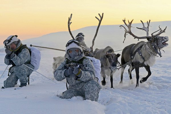 Russia has increased military training and exercises in the North Pole