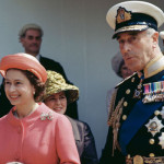 A Memorandum photo of Lord Mountbatten and Queen of Britain Elizabeth II