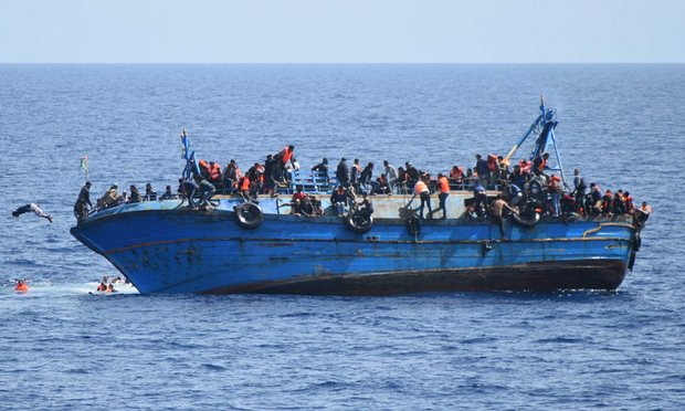 The boat sank off Libya coast,  100 Migrants killed