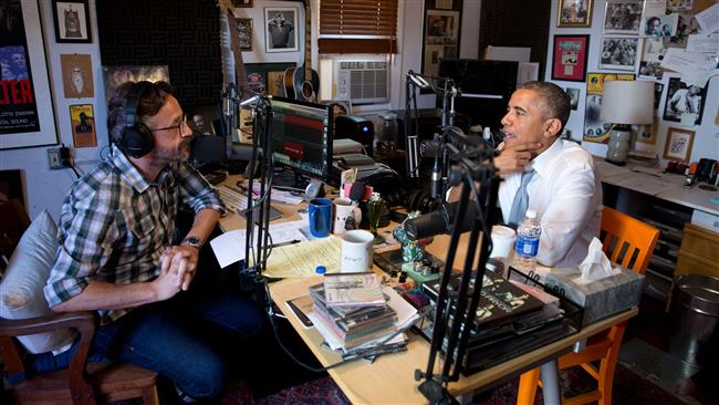 Comedian Marc Maron podcast interview Barack Obama for the program that we could not overcome racism
