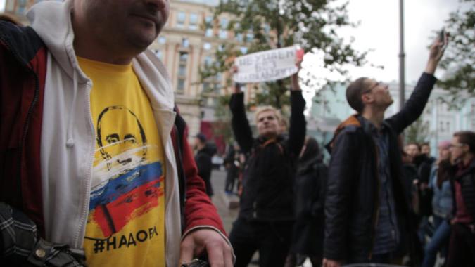 Protests on Putin's birthday