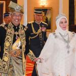 Malaysia's new king Sultan Abdullah and his queen, Tunku Azizah Aminah Maimunah