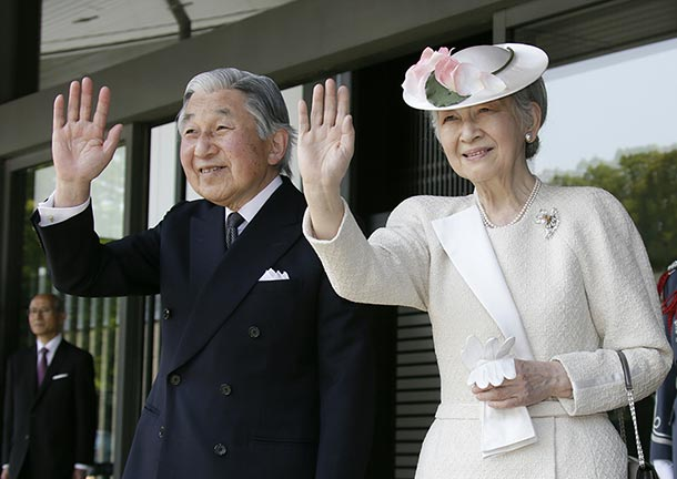 Japan's Empress Michiko his husband Emperor Akihito