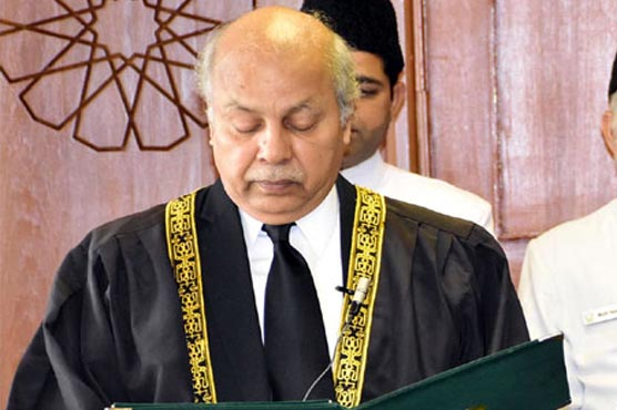 New Chief Justice of Pakistan Justice Gulzar takes oath on December 21, 2019