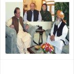 Nawaz Sharif, Mary Nawaz and Maulana Fazal ur Rehman
