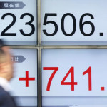 Nikkei average of 225 selected issues ended the day's trading at 23,714, up 208 points from Thursday's close