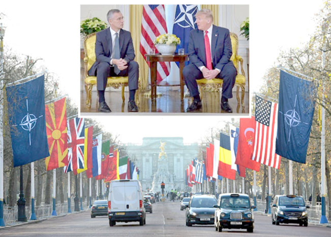 NATO's seventh anniversary decorates the highway 'Trump and Stoltenberg meet'