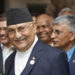 Nepal's Prime Minister K P Sharma Oli