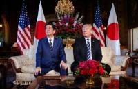 Prime Minister Shinzo Abe and President Trump