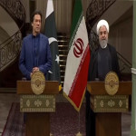 Prime Minister Imran Khan addresses a joint press conference with Iranian President Hassan Rouhani