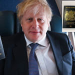 Prime Minister Boris Johnson reveals new UK passport; British passport will be blue after Brexit