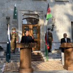 Prime Minister Imran Khan and Afghan President Ashraf Ghani at a joint press conference