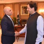 Prime Minister Imran Khan and UK Interior Minister Sajid Javaid