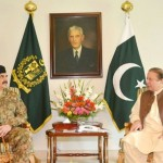 To resolve the political crisis, Prime Minister Nawaz Sharif met General Raheel Sheriff