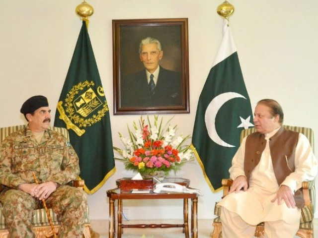 To resolve the political crisis, Prime Minister Nawaz Sharif met General Raheel Sheriff