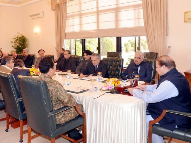 Prime Minister Nawaz Sharif chaired a national security meeting last Saturday ended after 5-hour