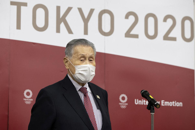 Mori Yoshiro heads the organizing committee for the Tokyo Olympics and Paralympics