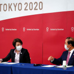 Tokyo Olympic Organizing Committee Chairman Seiko Hashimoto and Executive Committee Director General Toshiro Muto