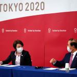 Tokyo Olympic Organizing Committee Chairman Seiko Hashimoto and Executive Committee Director General Toshiro Muto