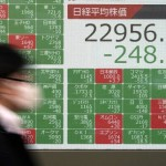 Tokyo's Nikkei 225 index closed Monday at 239.24 points, down 1.01 percent at 22971.94 points.