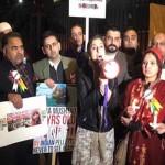 Ten Downing Street landmark Kashmiris protest in London