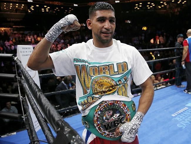 Pakistani-born British boxer Amir Khan