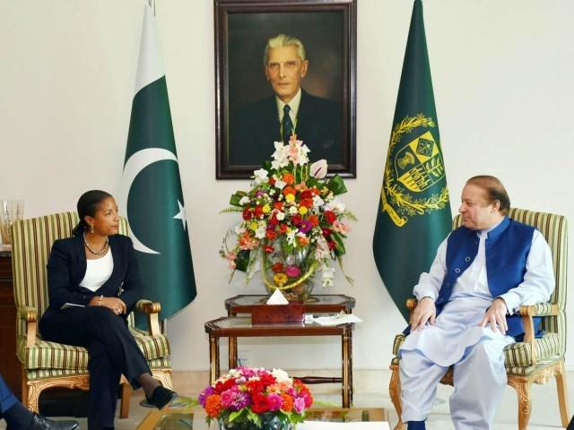 Pakistani Prime Minister Nawaz Sharif and US National Security Advisor Susan Rice