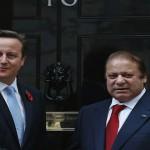 Pakistani Prime Minister Nawaz Sharif and British Prime Minister David Cameron