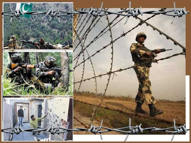 There is a 3252-km long border between Pakistan and India