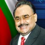 Pakistan Muttahida Qaumi Movement chief Altaf Hussain (MQM)