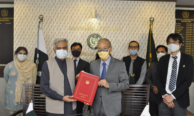 The agreement was signed by Japanese Ambassador to Pakistan Kuninori Matsuda and Secretary for Economic Affairs Noor Ahmed