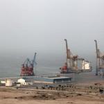 Gwadar port of Pakistan's deep water on one hand