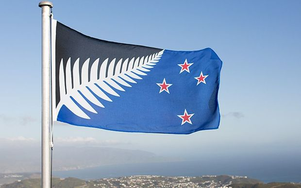 Flag of the proposed new sample name Silver Fern