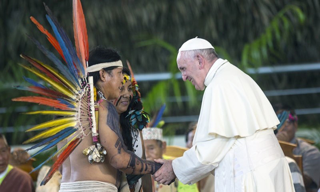 Pope Francis rejects married men to beAmazon priest's proposal