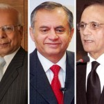 Justice Tasadduq Hussain Jilani, nominated nominees of PTI, Governor State Bank Dr Ishrat Hussainain and Abdul Razzaq Dawood