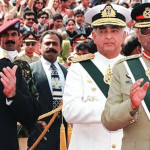 Chief of the Army Staff General Musharraf defeated Prime Minister Nawaz Sharif's government on October 12, 99