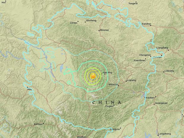6.5 magnitude earthquake in China's province Sichuan