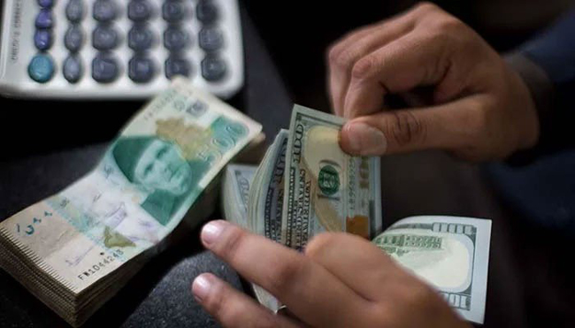 The dollar rose to Rs 166.15