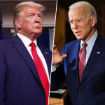 Donald Trump and Democratic rival Joe Biden