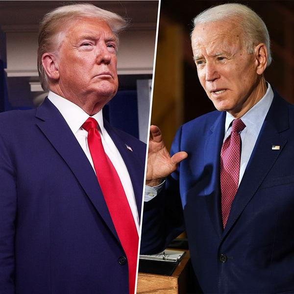 Donald Trump and Democratic rival Joe Biden