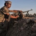 Kurdish Peshmerga security forces in control of 90 percent of the town Kubani