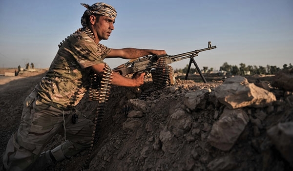 Kurdish Peshmerga security forces in control of 90 percent of the town Kubani