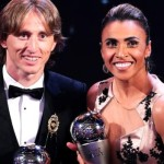 The Croatian Footballer Luka Modric and the Marta of Brazil
