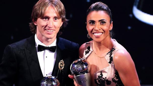 The Croatian Footballer Luka Modric and the Marta of Brazil